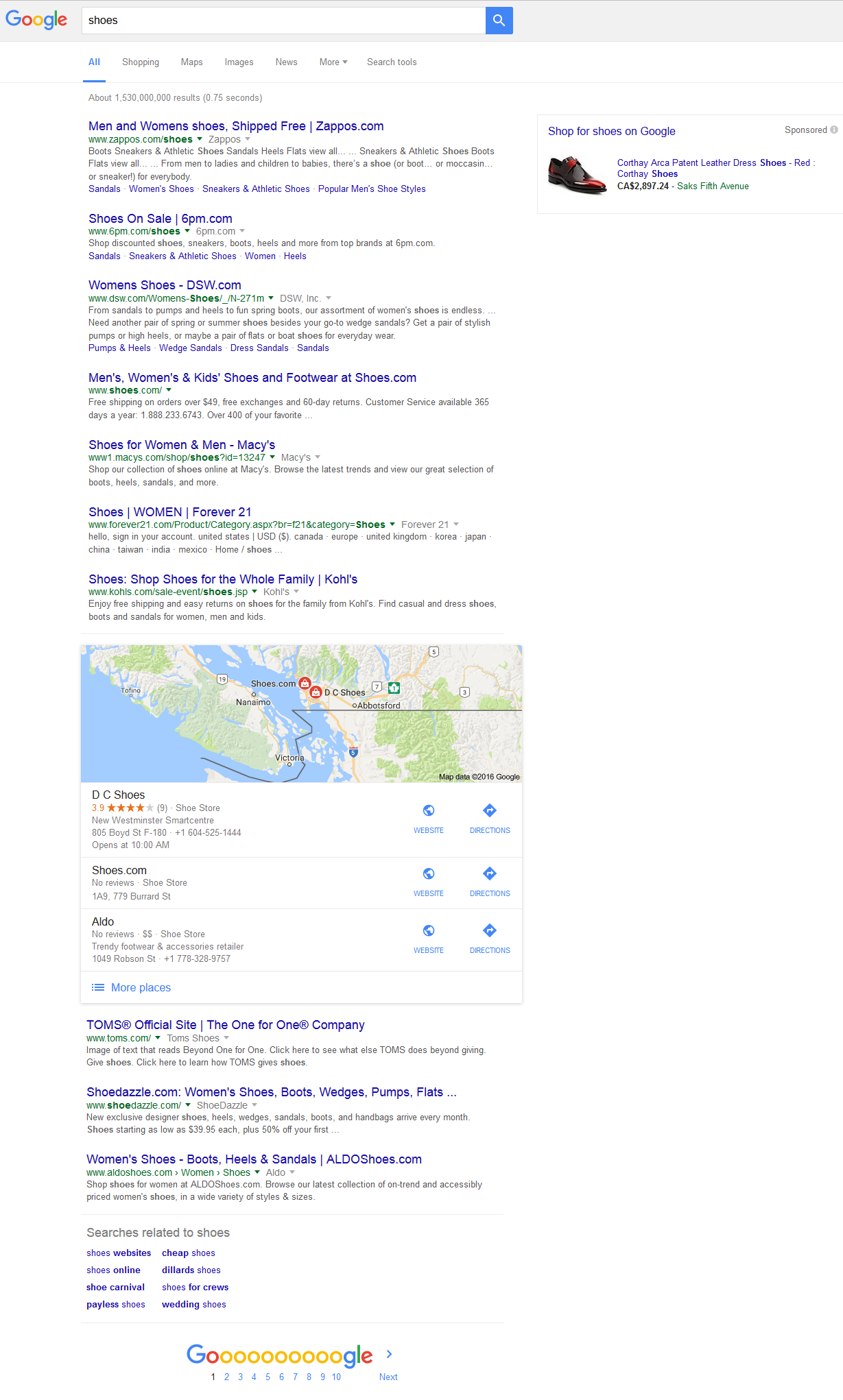 Google local 3 pack search results
