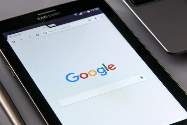 Google on tablet