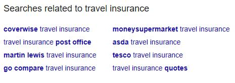 people also search for keyword suggestions travel insurance