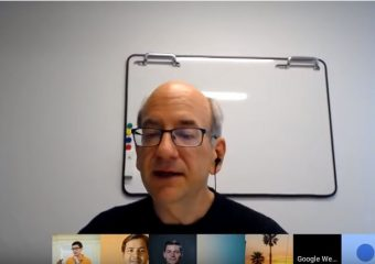 Screenshot of John Mueller in a Google Webmaster Hangout
